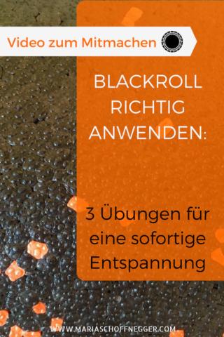 Blackroll richtig anwenden: 3 Übungen für eine sofortige Entspannung