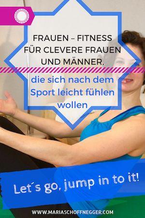 Frauen Fitness für clevere Frauen und Männer, die sich nach dem Sport leicht fühlen wollen