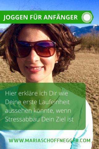 Joggen für Anfänger: Hier erkläre ich Dir wie Deine erste Laufeinheit aussehen könnte, wenn Stressabbau Dein Ziel ist