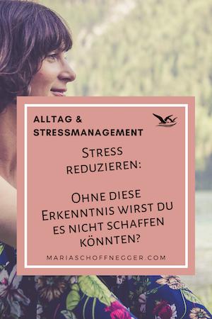 Stress reduzieren: Ohne diese Erkenntnis wirst du es nicht schaffen!